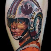 Peter hall tattoo big tattoo planet for Luke skywalker tattoo