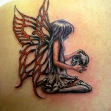 Big tattoo planet skull big tattoo planet for Skull fairy tattoos