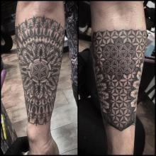 Big Tattoo Planet Mandala Tattoo Flower Of Life Patter Big Tattoo