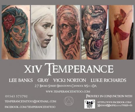 temperance tattoo studio art and design. Black Bedroom Furniture Sets. Home Design Ideas