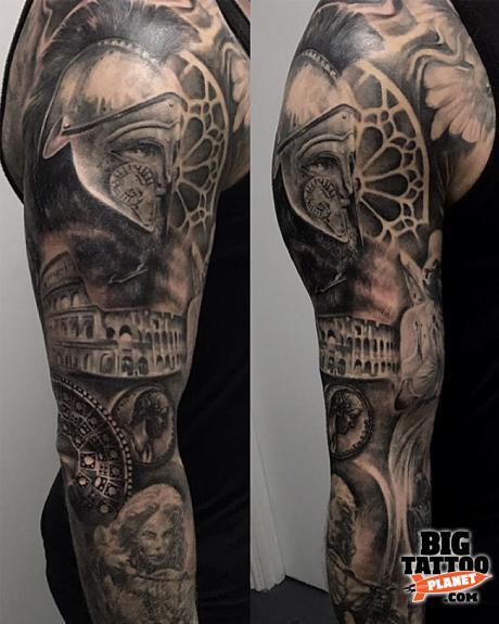 68fd59b1b Brigi Fuzes - Gladiator Tattoo | Big Tattoo Planet
