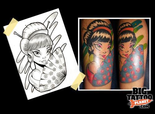 Simone Cavallari New School Tattoo Big Tattoo Planet