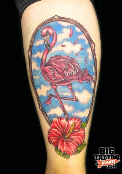 Jo pink flamingo tattoo tattoo big tattoo planet for Pink flamingo tattoo