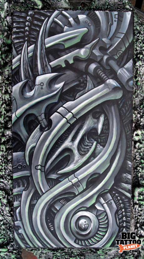 roman artistic element tattoo black and grey tattoo